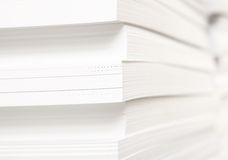 Stack of clean sheets for typographical print Royalty Free Stock Images