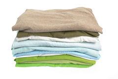 A stack of clean shirts Royalty Free Stock Photos
