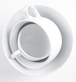 Stack of clean white dishes Stock Photography