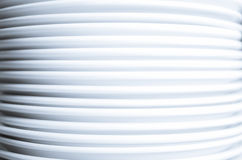 Stack of clean white plates Royalty Free Stock Photo