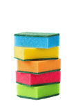 Stack of cleaning sponges isolated Royalty Free Stock Photography