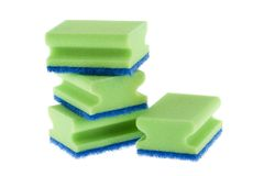 Stack of cleaning sponges Royalty Free Stock Images