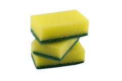 Stack of cleaning sponges Stock Photos