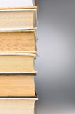 Stack of closed books Royalty Free Stock Photography