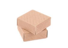 Stack of closed boxes. On a white background Royalty Free Stock Images