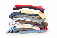 Stack of cloth Royalty Free Stock Images