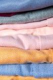 Stack of cloth close up shot Royalty Free Stock Photos