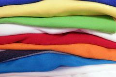 Stack of cloth Stock Image