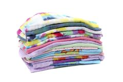 Stack of cloth diapers Stock Images