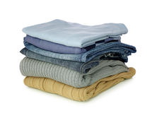Stack of clothes Stock Photos