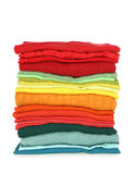 Stack of clothes. Isolated on white background Royalty Free Stock Photography