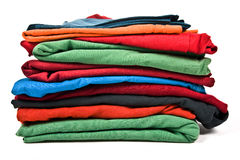 Stack of clothes Royalty Free Stock Photos