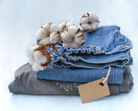 Stack of clothes Royalty Free Stock Photography
