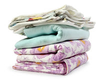 Stack clothes. On white background Royalty Free Stock Image