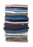 Stack of clothing isolated Royalty Free Stock Photo