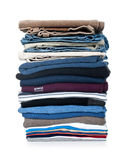 Stack of clothing isolated Stock Image