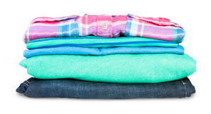 Stack Of Clothing Royalty Free Stock Image