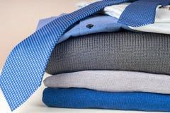 Stack of clothing isolated on white Royalty Free Stock Image