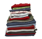 Stack of clothing shirts Stock Image