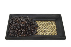 Stack of coffee bean isolated Royalty Free Stock Images