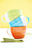 Stack of coffee cups Stock Images