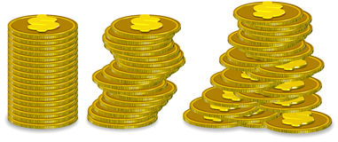 Stack Coin. Three dimension style and high quality image Stock Photo