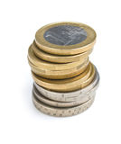 Stack of coins Royalty Free Stock Photography