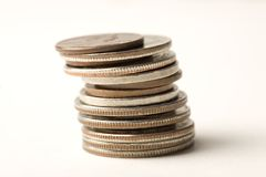 Stack of coins Royalty Free Stock Image