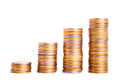 The stack of coins Royalty Free Stock Photos
