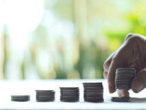 Stack coins. Business , financial concept stock photography