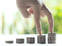 Stack coins. Business , financial concept royalty free stock photos