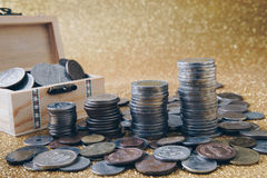 Stack of coins. Stock Image