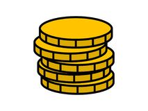 Stack of coins icon Stock Photography