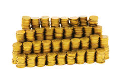 Stack of coins isolated Stock Photography