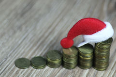 Stack of coins new year Stock Photos