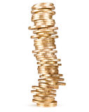 Stack of coins (russian 10 rubles) Stock Image