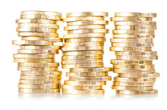 Stack of coins (russian 10 rubles) Stock Photography