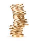 Stack of coins (russian 10 rubles) Stock Photo