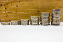 Stack coins Thailand Stock Photography