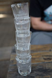 Stack of Cold Shot Glasses Stock Image