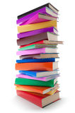 Stack of color books Royalty Free Stock Photos