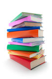 Stack of color books Royalty Free Stock Images