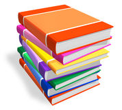 Stack of color books Stock Photos