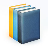 Stack of color books. 3d illustration of stack of multicolor books isolated on white background Royalty Free Stock Photography