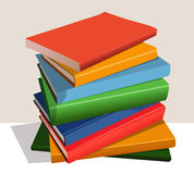 Stack of color books Stock Photo