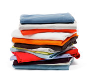 Stack of Color Clothes Stock Image