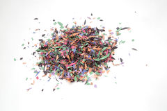 A stack of color confetti Stock Images