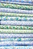 Stack color cotton bedding. On a photo  stack color cotton bedding. Turkmenistan. Ashkhabad market Stock Image