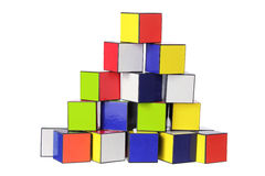 Stack of Color Cubes Royalty Free Stock Photos