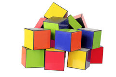 Stack of Color Cubes Stock Photo